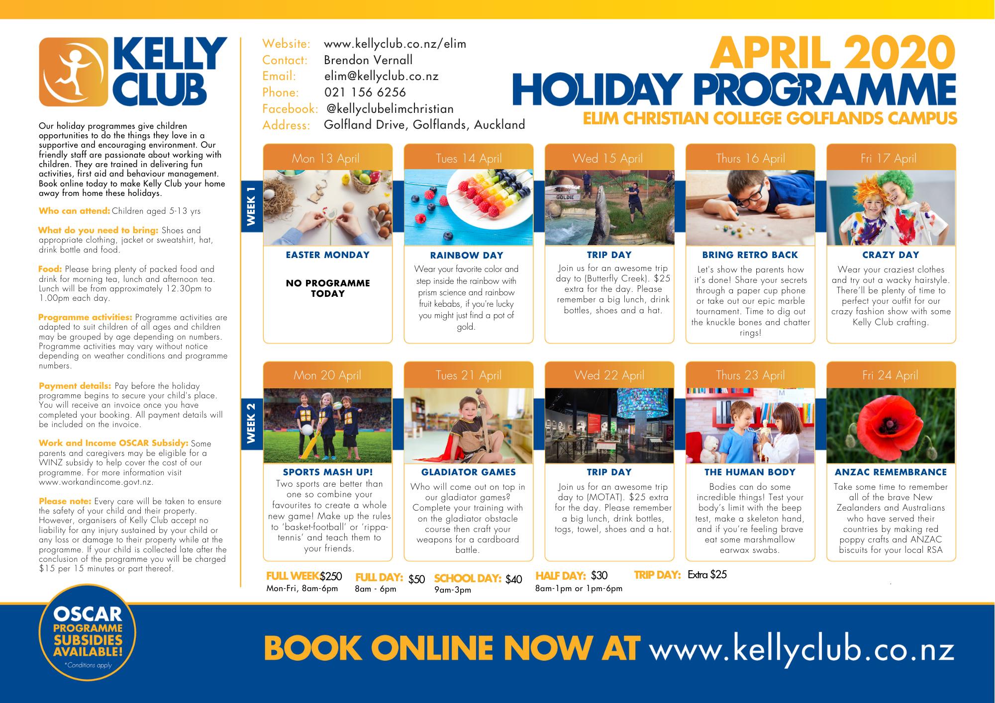 Elim 2020 April Holiday Programme